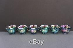 Indiana Harvest Blue Carnival Princess Punch Bowl Set With Ladle and Hooks