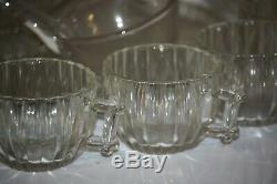 Jeannette Glass NATIONAL Fruit Punch Bowl Beautiful 15 Piece Set Vintage