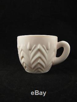 Jeannette Pastel Pink Milk Glass Punch Bowl, Set of 23 cups, Ladle