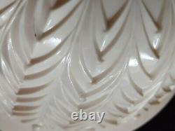 Jeannette Vintage Pink Milk Glass Punch Bowl Set Pedestal & 12 Cups