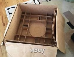 L E Smith Daisy and Button Punch Bowl/Under-Plate/12 Cups & Ladle-Org Box