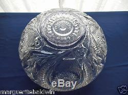 L E Smith Glass Clear Pinwheel & Star Slewed Horseshoe 20 piece Punch Bowl Set