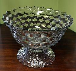 LARGE Vintage glass Double Punch Bowl