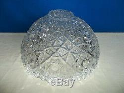 LAST LISTING! Rare Antique Fostoria ROSBY Clear Pressed Glass Punch Bowl -EUC