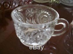 LE Smith PINWHEEL STARS/SLEWED HORSESHOE Punchbowl ORIGINAL BOX 15 pc
