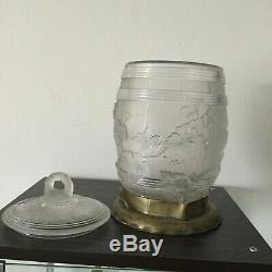 Lalique Style Vase Large VASE or punch bowl with lid