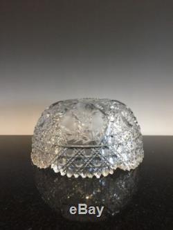 Large Antique Brilliant Period Cut Glass Fruit Punch Bowl