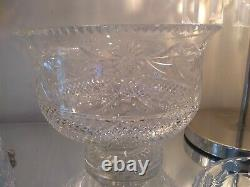 Large Beaconsfield crystal punch bowl centerpiece not Waterford