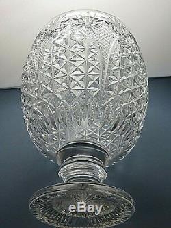 Large Stuart Crystal Church Window Cut Punch Pedestal Bowl Centerpiece-13tall