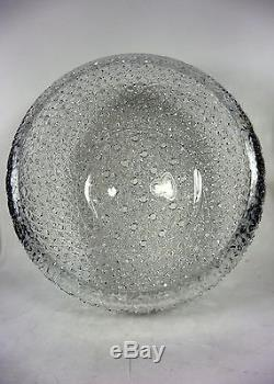 Lead Crystal Cut Glass Huge Punch Bowl Buttons and Daisies Design