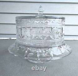 Marquis Waterford Crystal 3 in 1 Convertible Cake Stand, Dome, & Punch Bowl