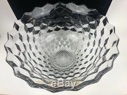 Massive Vintage Fostoria 18 Clear Glass Banquet Punch Bowl