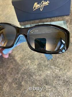Maui Jim PUNCHBOWL Women's Black/ Blue Frame Sunglasses 219-03