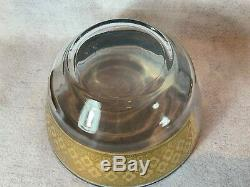 Mid Century Rare Culver Seville Glassware Punch Bowl Set 11 Roly Poly Glasses