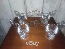 NATIONAL LAMPOON's Christmas Vacation Moose Mug Glass Punch Bowl + 4 Moose Mugs