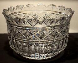 NIB HOUSE of WATERFORD CRYSTAL 12 TARA CENTERPIECE PUNCH BOWL JIM O'LEARY 5/200