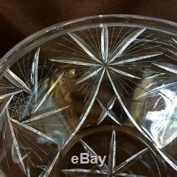 Nachtmann Cut Crystal Lidded Punch Bowl Set Germany