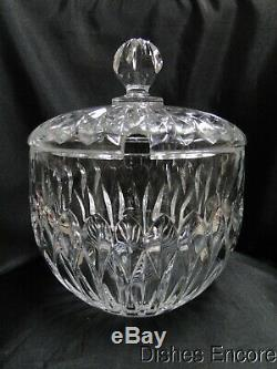 Nachtmann Edelweiss, Cut Vertical Design Punch Bowl & Lid with 18 Cups
