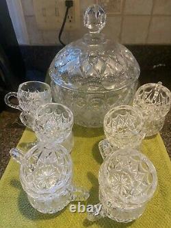 Nachtmann Traube crystal punch bowl set
