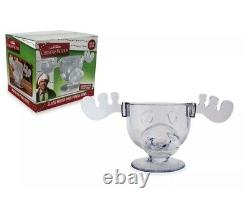 National Lampoon's Christmas Vacation Clark Griswold GLASS Moose Mug Punch Bowl