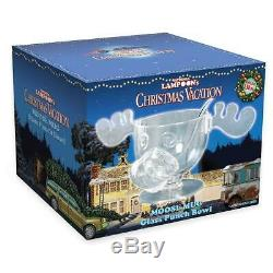 National Lampoon's Christmas Vacation Glass Moose Punch Bowl