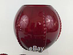 New Martinsville Glass Co. Depression glass punch bowl set RADIANCE 1936 1939