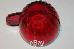 New Martinsville Ruby Red Glass Radiance Punch Set Bowl, 12 Cups and Ladle