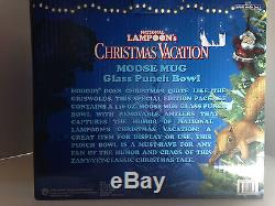 New National Lampoon's Christmas Vacation 136oz Moose Mug Glass Punch Bowl