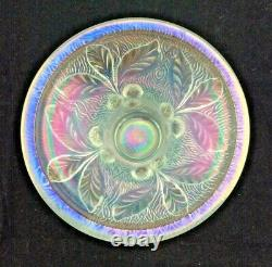 Northwood White Acorn Burrs Carnival Glass Punch bowl base
