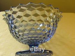 Rare Fostoria American Cubist Early Tom And Jerry Punch Bowl Fruit Bowl Blue