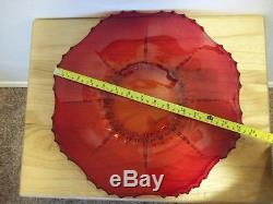 RARE PUNCHBOWL SET Ruby Red RADIANCE NEW MARTINSVILLE With All 12 Glasses
