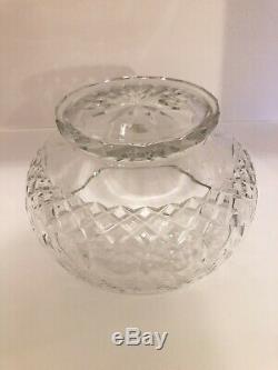 RARE Rogaska Gallia Gray & Crystal Cut Floral Design 10 Punch Bowl