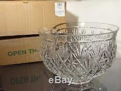 RARE Waterford Crystal MASTER CUTTER Masive Centerpiece Punch Bowl 12 IRELAND
