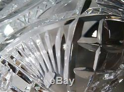 RARE Waterford Crystal MASTER CUTTER Pedestal Footed Punch Bowl 9 3/4