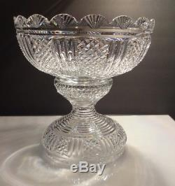 RARE Waterford Crystal PERIOD PIECE Master Cutter 2 Piece Punch Bowl 11 1/8