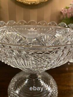 RARE Waterford Master Cutter Two Piece Crystal Punch Bowl