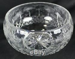 ROGASKA Gallia PUNCH Bowl + 12 CUPS Cut CRYSTAL