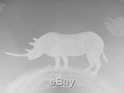 ROWLAND WARD Crystal Large Punch Bowl Lion, Giraffe & Rhino