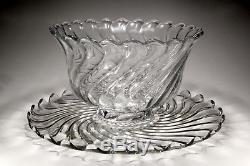 Rare Fostoria Colony Punch Bowl, 18 Torte Plate, 12 Cups, 2 Original Ladles