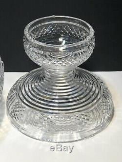 Rare Waterford Crystal Master Cutter 2 Piece Pedestal Punch Bowl Ireland