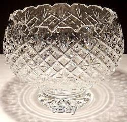 Rare Waterford Crystal Master Cutter Large Footed Punch Bowl Made In Ireland