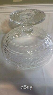 Rare/vintage Waterford Large Centerpiece Footed Mastercut Punch 8 1/2'' Bowl