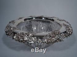 Redlich Punch Bowl 211 ABC American Brilliant Cut Glass Sterling Silver