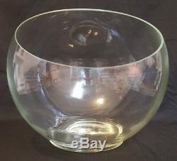 Riekes Crisa The Hollywood Bowl Handblown Punch Bowl 12 Cups Ladle Original Box