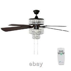 River of Goods 52 in. Silver Punched Metal Ceiling Fan 16554S