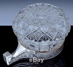 STUNNING VRY LARGE c1900 RUSSIAN SOLID SILVER & CUT GLASS CENTERPIECE PUNCH BOWL