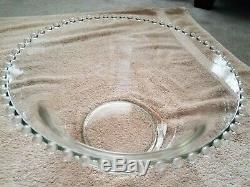 Sale! Vintage Classic Imperial Candlewick Punch Bowl/Under-plate, 16 Cups