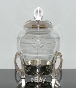 Seltene Jugendstil Wmf Bowle Art Nouveau Punsch Gefäss Punch Bowl With Glass