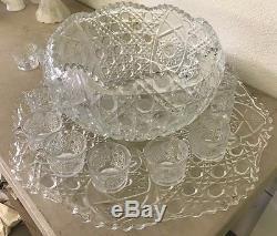 Smith Glass Punch Bowl Set (BUNDLE) 26 Piece