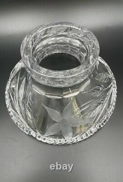Striking Large Ideal Company Canastota Cut Glass Punch Bowl Floral #3